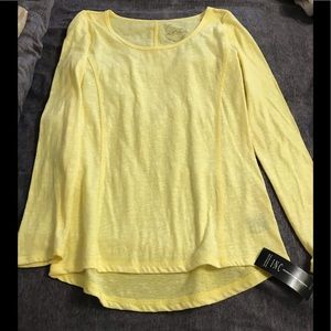 INC Bright Yellow Shirt